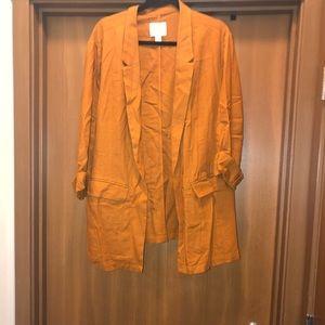 Terra cotta linen blazer